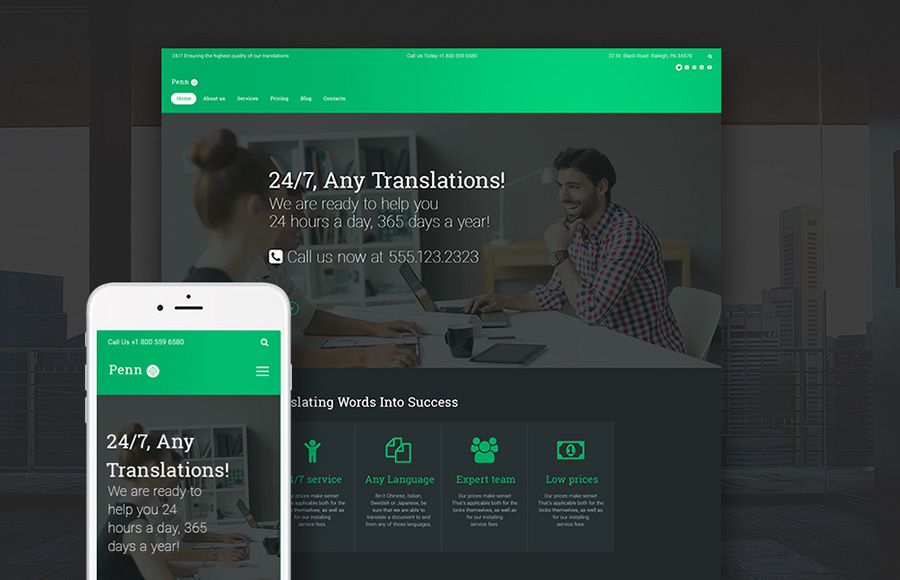 Translation Agency WordPress Theme