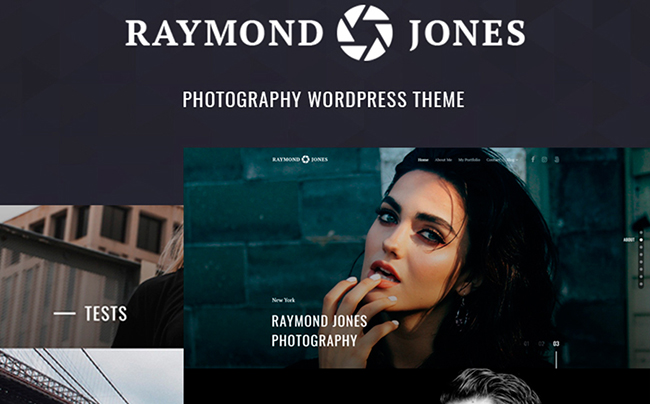 Raymond Jones - Photographer Portfolio Landing Page WordPress Theme